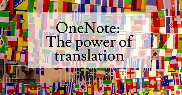 OneNote Translation